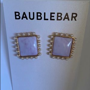 BaubleBar Triton Resin Button Stud Earrings